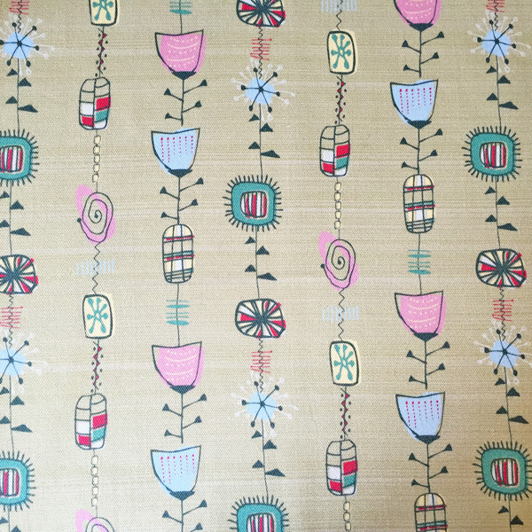 Atomic 1950s fabric by the metre made by ilze for Retro space fabric uk