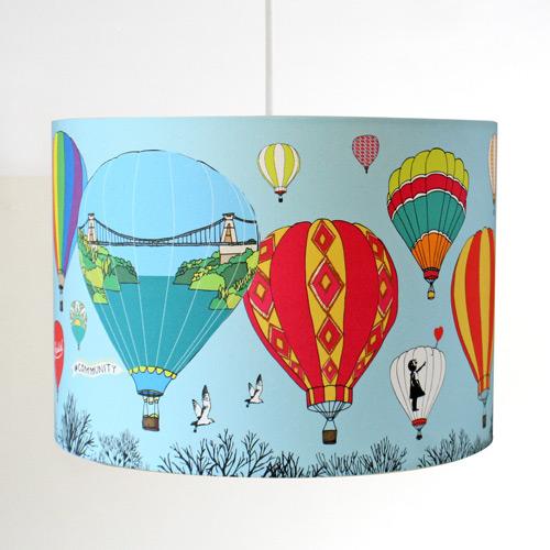 Bristol Balloons Handmade Ceiling, Hot Air Balloon Lampshade